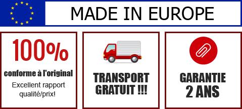 Garantie 2 ans. 100% conforme à l'original – Excellent rapport qualité/prix! Transport gratuit.